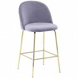 Barová Židle Artdeco Bar Šedá