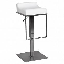 Barová Židle Barhocker Bílá