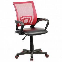 Otočná Židle Offal Červeno-Černá