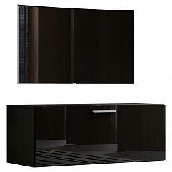 Tv- Skříňka Fernso Š: 95 Cm Černá Vysoký Lesk